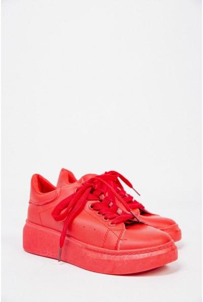 Женские кроссовки на платформе Красные 129R271020-10 53588