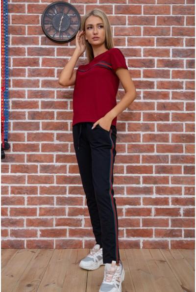 Костюм женский  цвет бордово-черный 102R222 67600