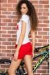 Костюм женский  цвет красно-белый 179R322 цена 639.0000 грн