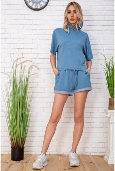 Летний женский костюм Худи и шорты цвет Джинс 102R195 57062