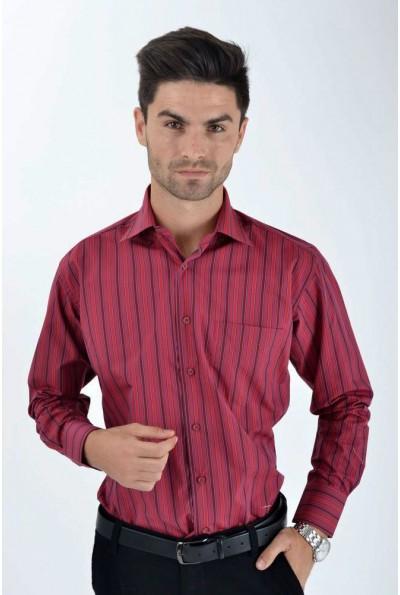 Рубашка мужская классическая сине-красная 0808-10