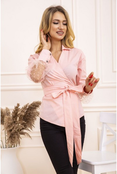 Блуза женская на запах цвет Розовый 119R0411