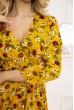 Платье женское на запах с цветочным принтом цвет Горчичный 115R395-9 скидка