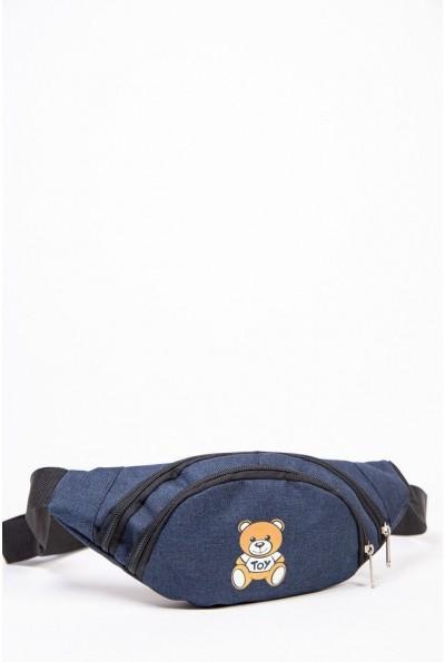 Бананка сумка на пояс с мишкой цвет Синий 154R003-40-1 53710