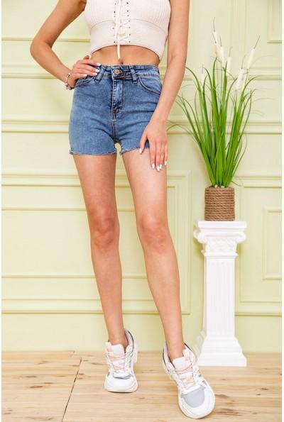 Джинсовые шорты  женские 164R3923 цвет Синий 59077