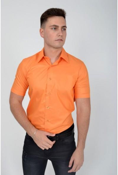 Оранжевая мужская рубашка с короткими рукавами 113RPass004 12088
