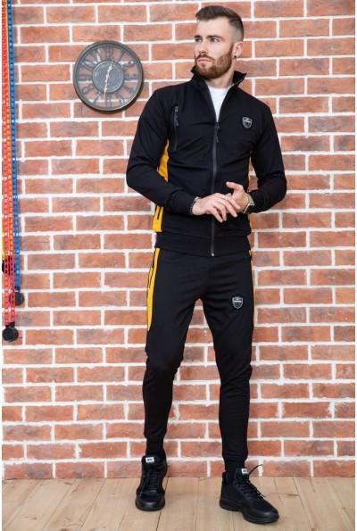 Спорт костюм мужской  цвет черный 154R100-01 40165