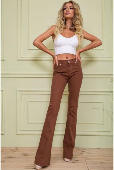 Джинсы женские  цвет коричневый 117R5002-1 62387