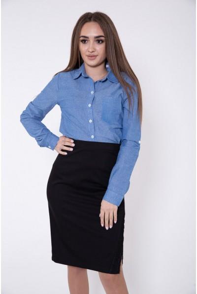Рубашка женская 115R3180 цвет Джинс
