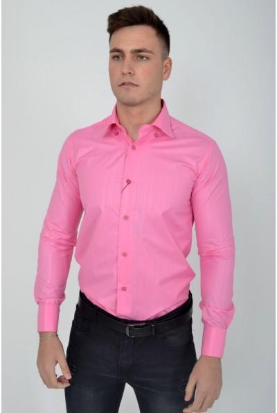 Ярко-розовый рубашка классическая 889-20