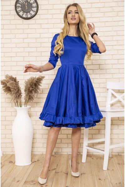Платье женское нарядное атласное клеш цвет Синий 167R1624 50141
