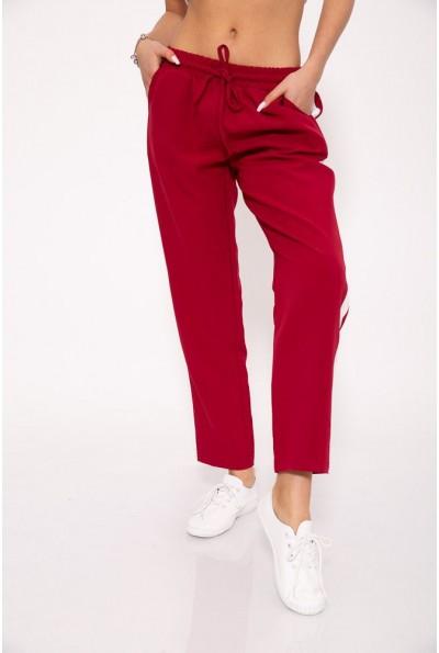 Бордовые брюки женские  летние115R223D