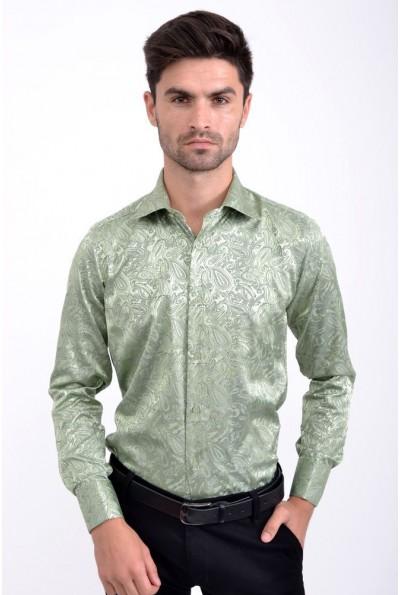 Рубашка зеленая стильная SW-8
