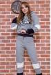 Купить Спорт костюм женский 117R2960 цвет Серый