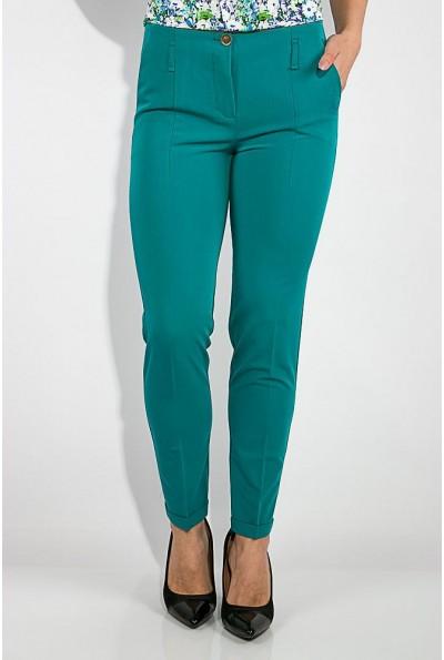 Классические женские брюки  изумрудного цвета 115R48-26 10264