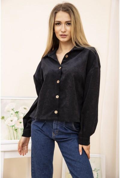 Женская куртка рубашка вельветовая цвет Черный 15R386 52203