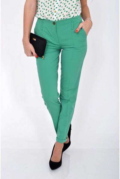 Зеленые женские брюки делового стиля 115R48-26