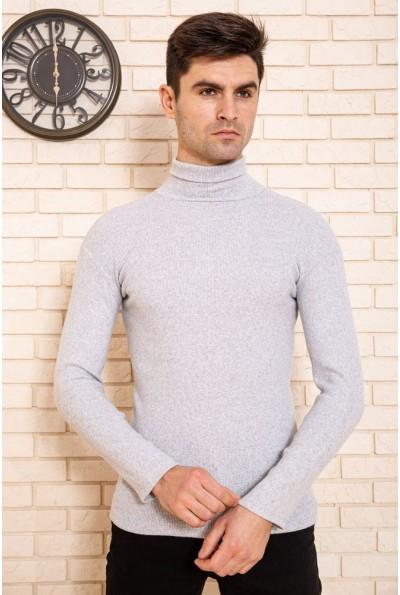 Гольф мужской однотонный цвет Серый 116R039 45085