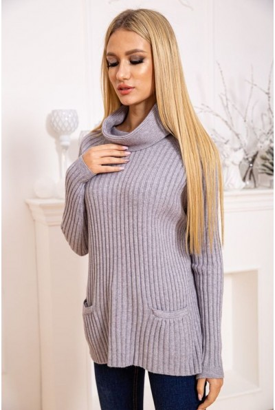 Свитер женский 131RQ380 цвет Серый 43739