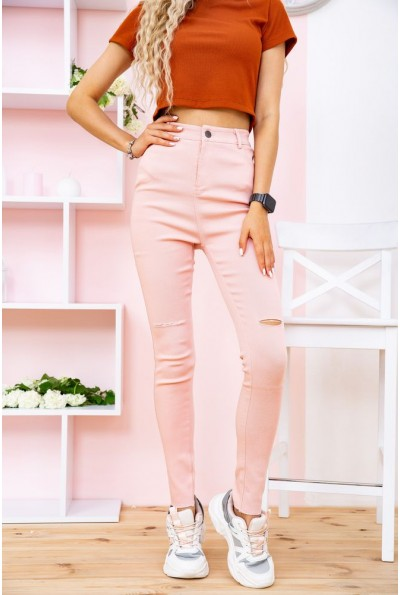Джеггинсы женские 167R899-13 цвет Розовый 57585