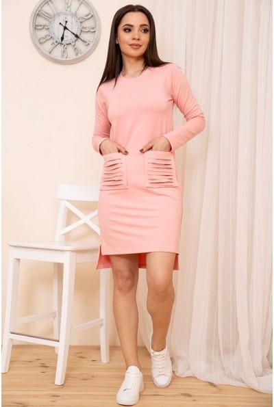 Короткое прямое платье с карманами цвет Розовый 167R30-1 54310