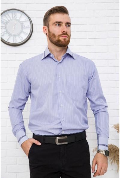 Классическая рубашка сиреневая в полоску 5-9060-12
