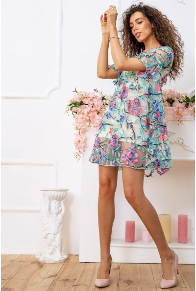 Платье 167R1230 цвет Бежево-зеленый 59342