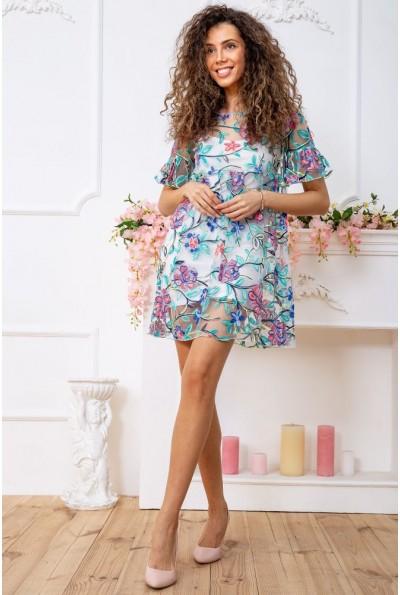 Платье 167R1230 цвет Бело-зеленый 59344