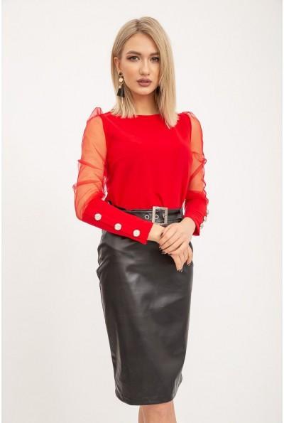 Блуза женская 119R0421 цвет Красный