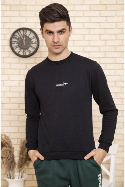 Свитшот мужской однотонный цвет Черный 114R006