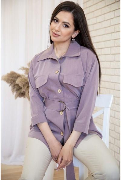 Рубашка женская 115R399-1 цвет Светло-фиолетовый 53790