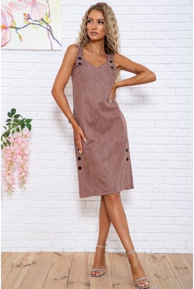 Платье-сарафан из эко замши цвет Бежевый 104R005-2 55169