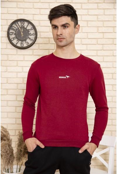 Свитшот мужской однотонный цвет Бордовый 114R006
