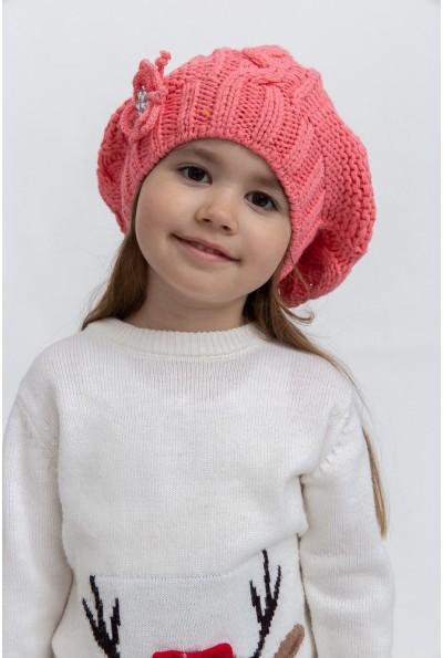 Шапка детская 126R002 цвет Коралловый