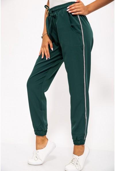 Брюки женские 115R340-1 цвет Темно-зеленый