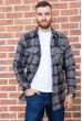 Купить Рубашка байковая в клетку мужская  цвет серо-черный 129R16115 67165