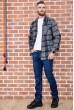 Рубашка байковая в клетку мужская  цвет серо-черный 129R16115 недорого