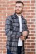Рубашка байковая в клетку мужская  цвет серо-черный 129R16115 стоимость