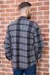 Рубашка байковая в клетку мужская  цвет серо-черный 129R16115 цена 739.0000 грн
