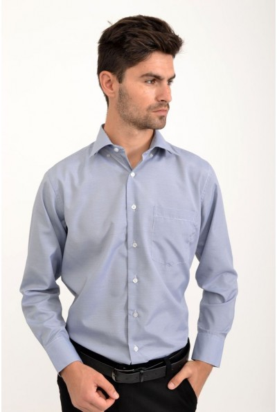 Рубашка классическая сине-белая клетка 9021-29