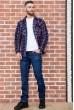 Рубашка байковая в клетку мужская  цвет сине-бордовый 129R16115 недорого