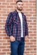 Рубашка байковая в клетку мужская  цвет сине-бордовый 129R16115 стоимость