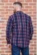 Рубашка байковая в клетку мужская  цвет сине-бордовый 129R16115 цена 739.0000 грн