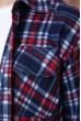 Рубашка байковая в клетку мужская  цвет сине-бордовый 129R16115 скидка