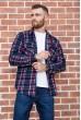 Купить Рубашка байковая в клетку мужская  цвет сине-бордовый 129R16115 67169