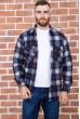 Купить Рубашка байковая в клетку мужская  цвет сине-серый 129R16115 67173