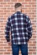 Рубашка байковая в клетку мужская  цвет сине-серый 129R16115 цена 739.0000 грн