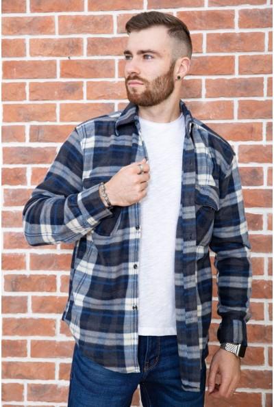 Рубашка байковая в клетку мужская  цвет сине-белый 129R16115 67167