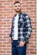 Рубашка байковая в клетку мужская  цвет сине-белый 129R16115 стоимость