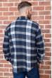 Рубашка байковая в клетку мужская  цвет сине-белый 129R16115 цена 739.0000 грн